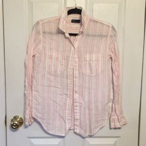 GAP 100% LINEN BUTTON DOWN SHIRT